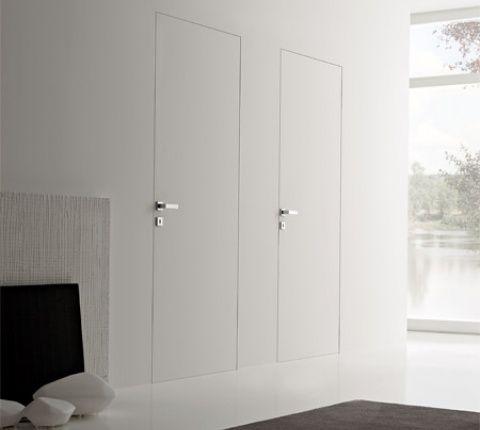 Porte rasomuro possono mimetizzarsi con la parete