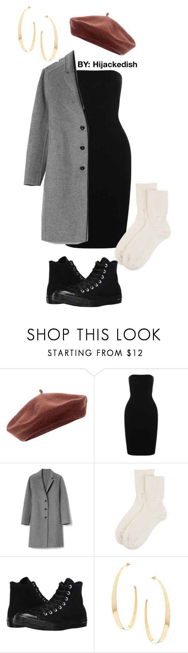 """The little black bandeau"" by hijackedish on Polyvore featuring Accessorize, Boohoo, Gap, Johnstons of Elgin, Converse and Lana"