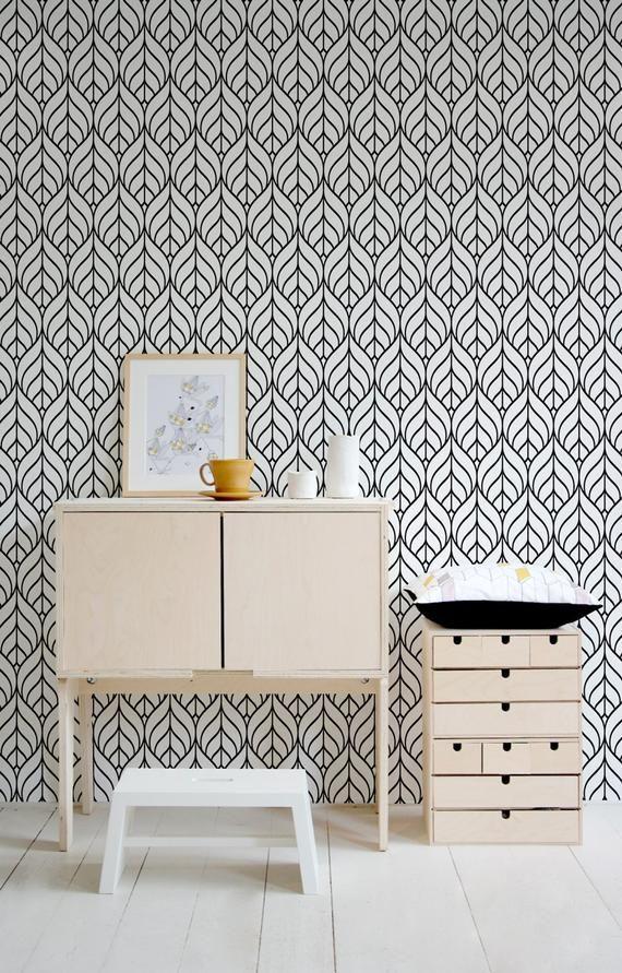 Minimalist Removable Wallpaper Self Adhesive Geometric Wallpaper