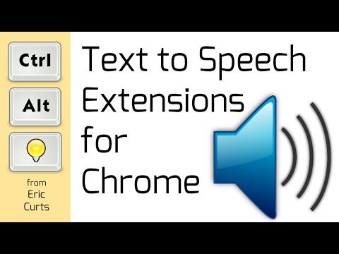 Text to Speech Extensions for Chrome - YouTube