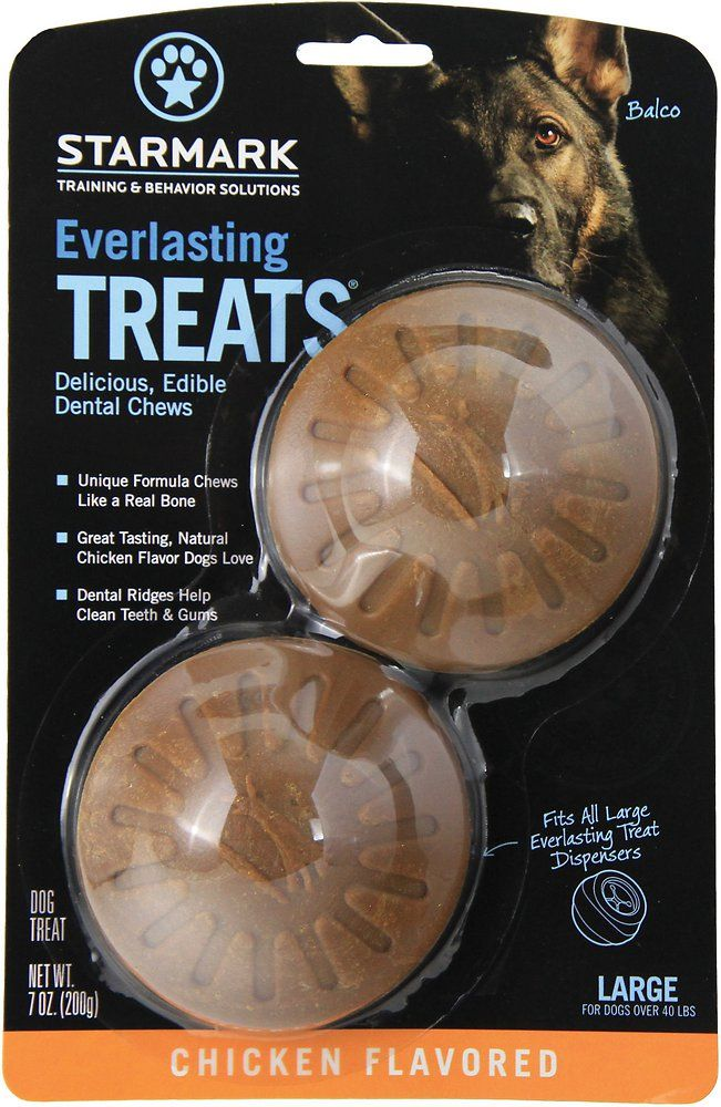 Starmark Everlasting Treats Chicken Flavor Dog Dental Chews, Large