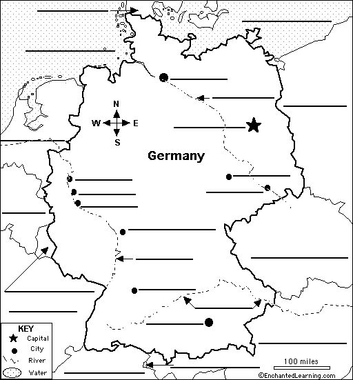 German map to label