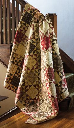 This quilt is all about value. This fat quarter friendly quilt makes use of darks and lights to give these traditional quilt blocks definition.
