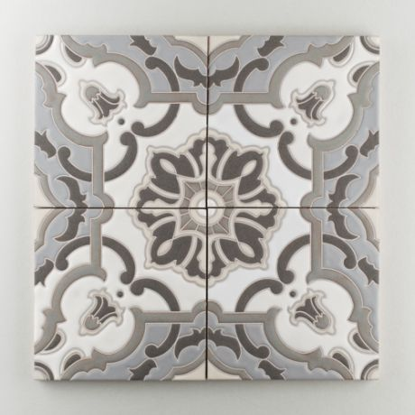 The Mediterranean Handpainted Collection: Liva C in the Neutral Motif. Classic and timeless, Liva C is a masterpiece of the California Mediterranean style, glorious in soft shades or vibrant color. Available in a 8x8 size. $35/piece.