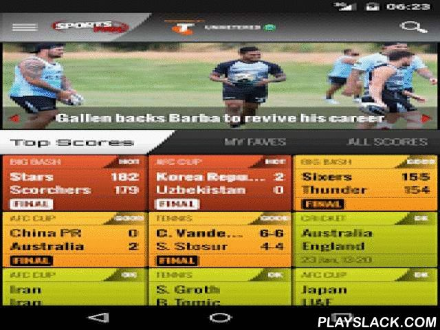 SportsFan Sports News & Scores  Android App - playslack.com ,  Get the sport you want, the way you want! The SportsFan app is essential for sports fans in Australia and around the world. SportsFan gives you a great new way to enjoy your favourite sports on your Android smartphone and tablet: Rugby, Cricket, Football (or Soccer if you prefer), Netball, Rugby League and AFL or Aussie Rules to the global fans.Never miss out on any sporting action or 'EPIC' games with our live scores and custom…