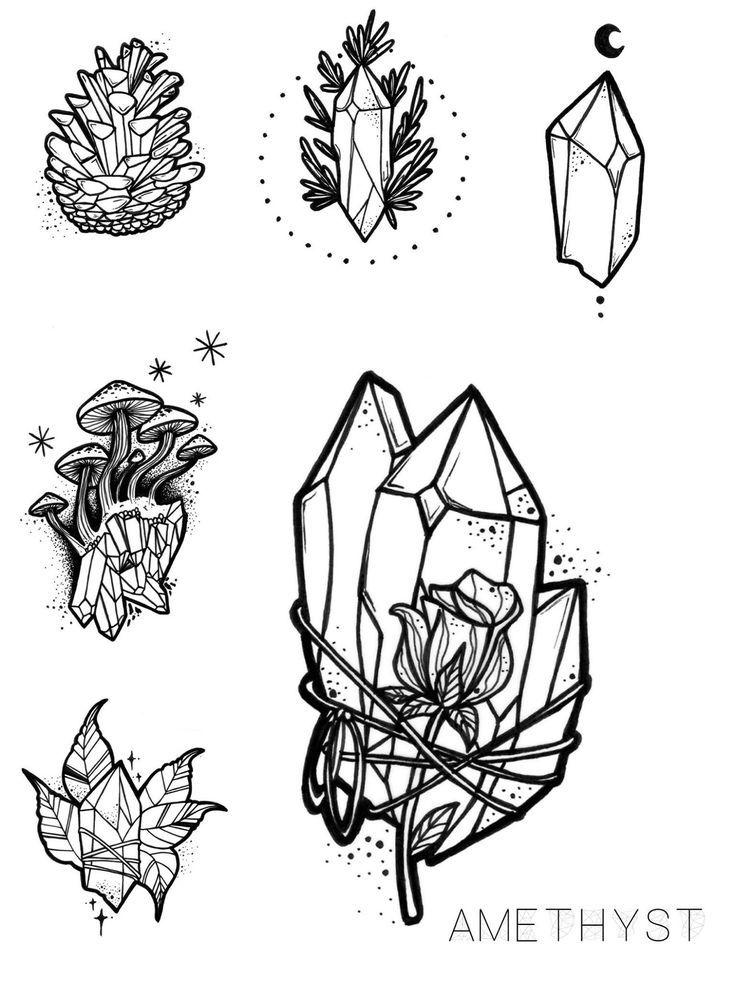 #amethyst #stein #blume #rose #tattoos