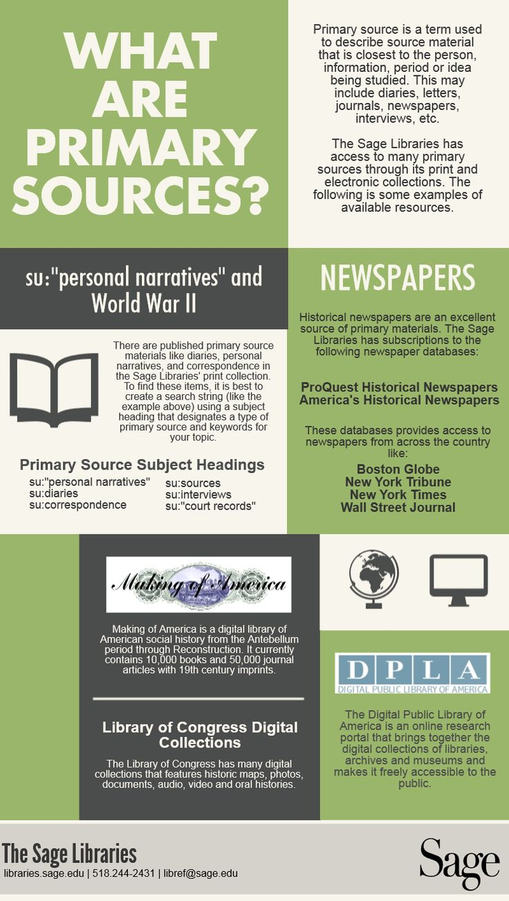 What are primary sources? #library #infographic