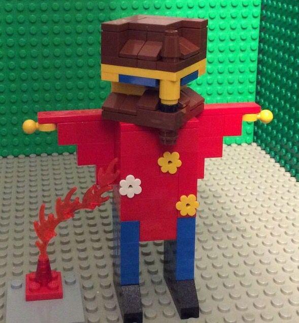 Lego cube dude