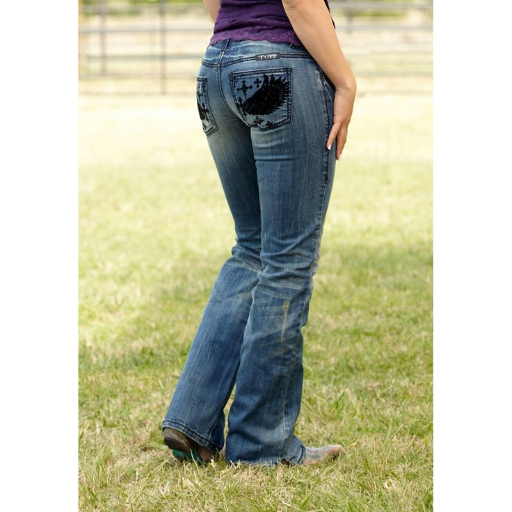 Awesome Boyfriend Boot Cut Jeans Item  1005401201703  Ladies Western