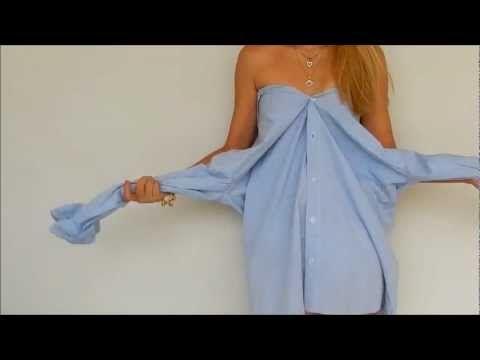 Vestido Playero - de Camisa Reciclada - Tutorial de SANDRA PADILLA - YouTube