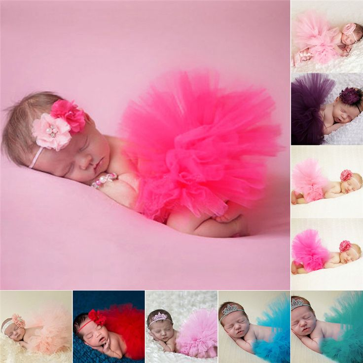 9 Colors Newborn Baby Photography Props Flower Tire Girls Dress Handmade Hats  Kids Clothing Photo Props Accessories