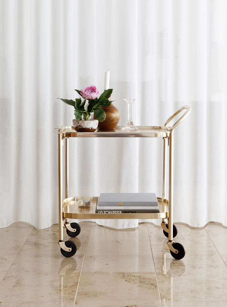 simple & sophisticated - a bar cart that is deserving of your home.