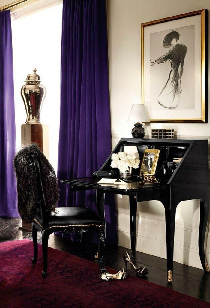 chambre a coucher bordeaux amazing comment choisir les rideaux du salon avec les canapes u. Black Bedroom Furniture Sets. Home Design Ideas
