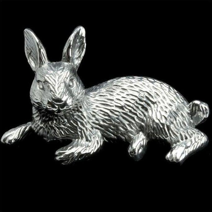 Rabbit Paper Weight | Aluminum | Arthur Court