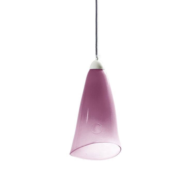 GLASS LAMP pastel pink. A charming addition to your home, this glass pending lamp is crafted by hand and features a coloured finish that may vary among the products. Glass comes from the hand-made collection. What makes this product extraordinary is that each lamp has its own colour, shape and drawing on glass. #pendant #lamp #glass #design #interior #interiordesign #decor #handicraft #gieel