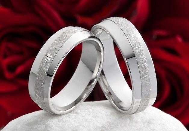 Silberringe Verlobungsringe Eheringe mit Zirkonia