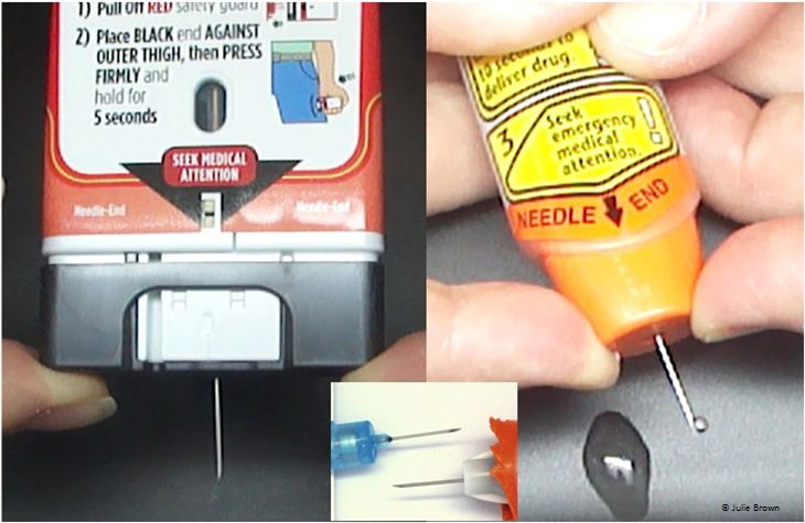 The appearance of Auvi-Q™/Allerject™ and EpiPen® needles during ...