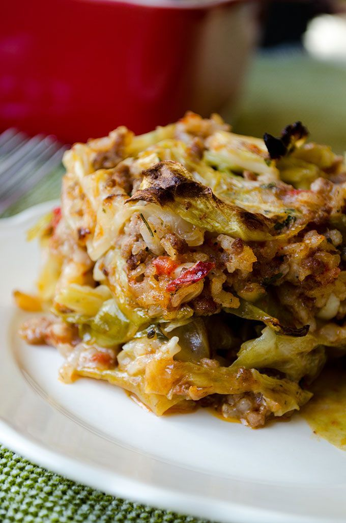 Unstuffed Cabbage Casserole doesn't take even the half time of stuffed cabbage rolls but it is as scrumptious. | giverecipe.com
