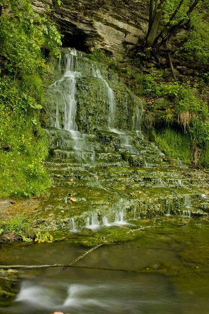 Beulah Falls at Spook Cave, Iowa