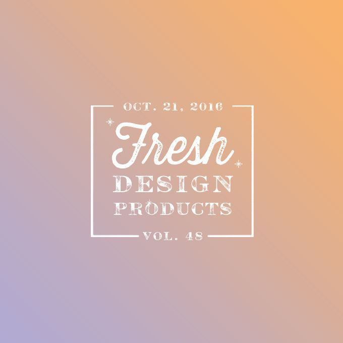 Don't miss this week design products from Creative Market. There are 48 juicy products including themes,
