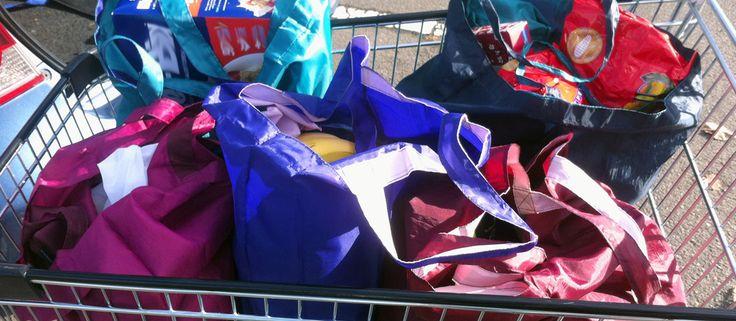 grocery pouch reusable nylon shopping bag