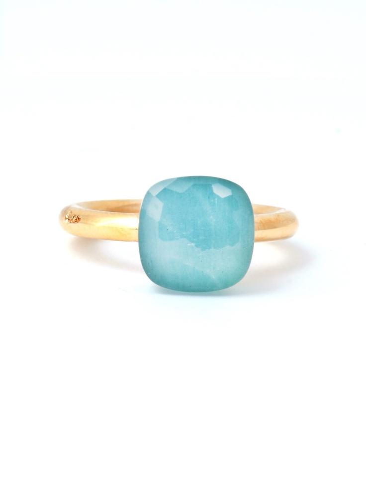 Pomellato - Nudo milky aquamarine ring