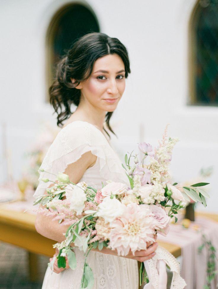 Dahlia wedding bouquet   photo by Elena Pavlova   Fab Mood - UK wedding blog #styledshoot