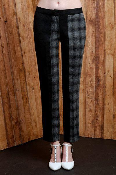 "Two-tone Wool Blend ""Shadow"" Pants"