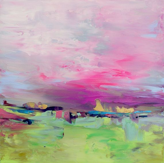 Abstract Landscape 'One for Me' acrylic by SallyKellyPaintings, $90.00