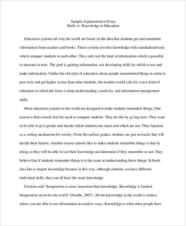 essay samples high school students