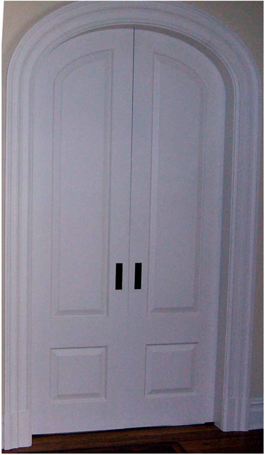 Arched, panel double pocket doors | Home | Pinterest