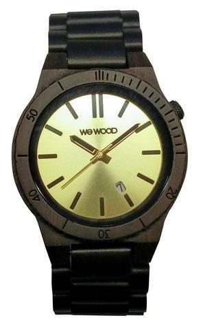Wooden Watch Arrow Black-Gold - GoodiesHub.com