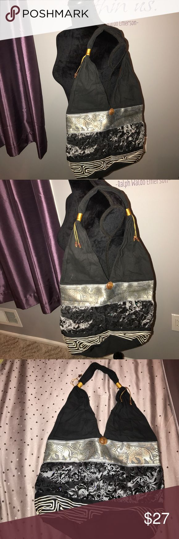 Brand New Black and Silver Shoulder Bag Brand New never used beautiful. I have in Black and Gold also. Same design.... identical. Bags Shoulder Bags