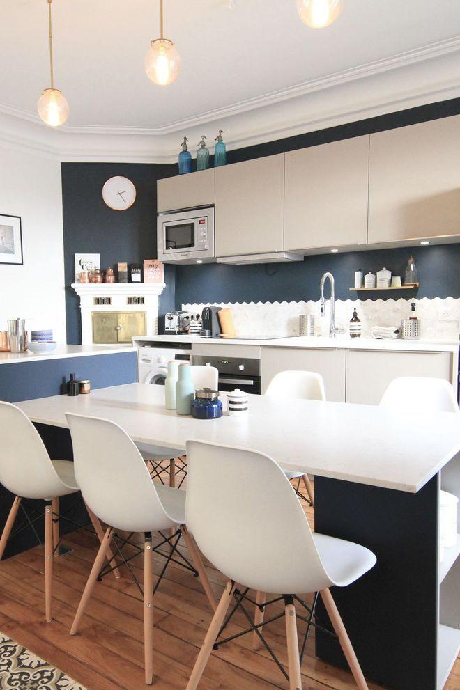 Ilot Central Table Bar Le Plein D Idees Pour La Cuisine Ilot Central Table Table Cuisine Cuisine Ouverte Salle A Manger