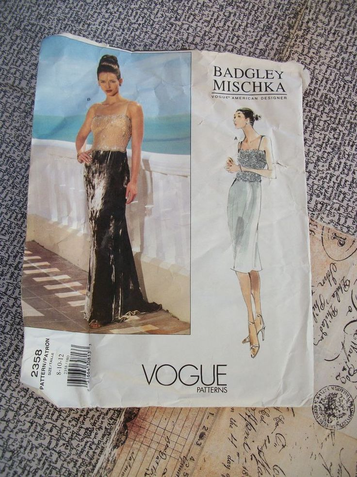 Vogue Badgley Mischka Pattern 2358 Misses Uncut Size 8-10-12 With Instructions. #VoguePatterns