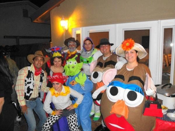 group toy story homemade costumes great example of mrs potato head - Great Group Halloween Costume Ideas