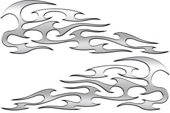 Silver Tribal Motorcycle Gas Tank Custom Digitally Airbrushed Flames This was the inspiration for my flame design