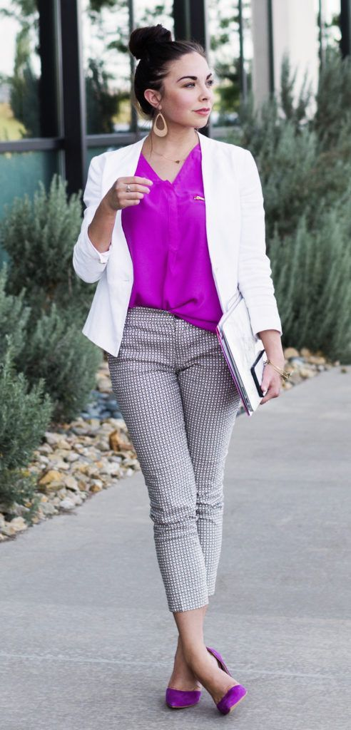 Girlboss Professional Makeup Look: Modest Girlboss Cute Business Casual Outfit.
