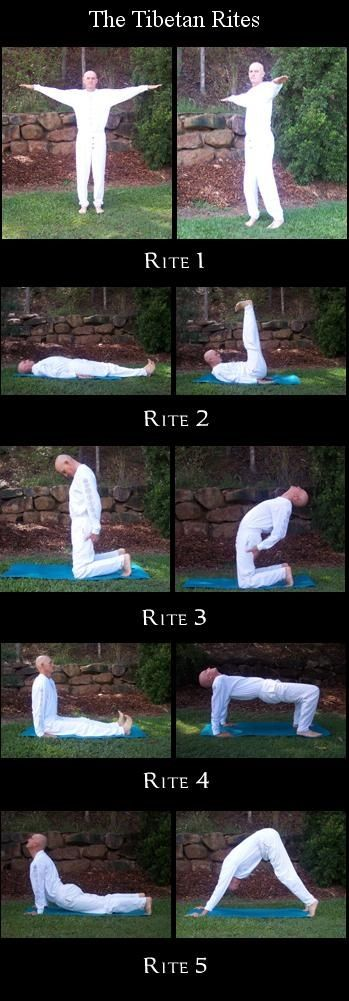 The Five Tibetan Rites each performed 21 times