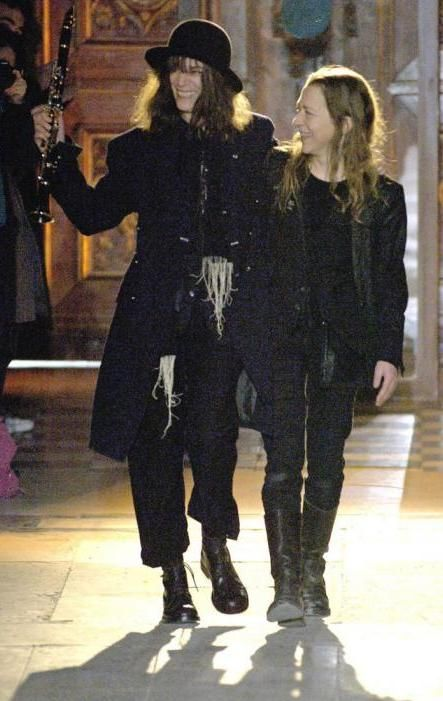 Ann Demeulemeester and Patti Smith | Fashion ~ Iconic ...  Ann Demeulemees...