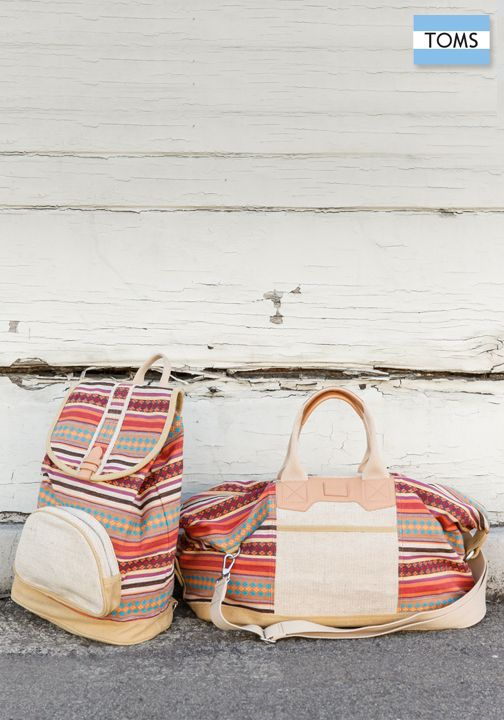 Packing for your next adventure is easy with TOMS new spring bags.