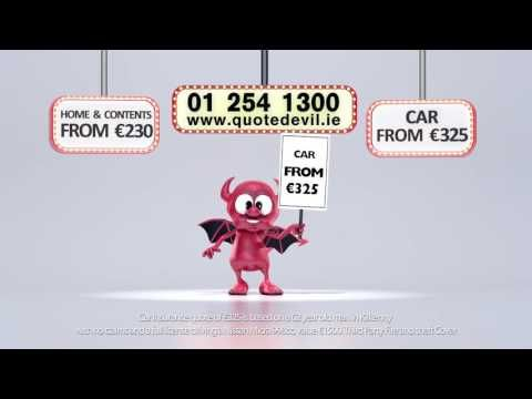 Quote Devil for low cost car insurance and home insurance in Ireland - WATCH VIDEO HERE -> http://bestcar.solutions/quote-devil-for-low-cost-car-insurance-and-home-insurance-in-ireland     If you are looking for fast and affordable auto insurance quotes and online housing, go to us. We promise to provide you a low cost online quote in just 2 minutes. You can also call us for pricing information and let one of our friendly representatives take care of you. As highly accredite