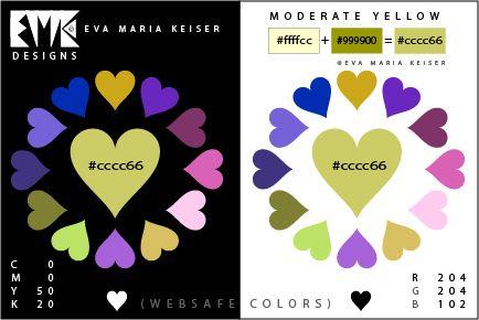 "Eva Maria Keiser Designs: Explore Color: ""Moderate Yellow"" (Websafe Color)"