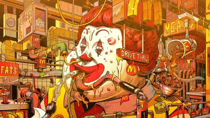 En lo más fffres.co: Estas ilustraciones muestran a las mascotas de marcas de comida rápida como nunca las has… #Ilustración #destacados