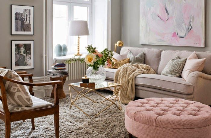1 sköna hem en blandad kompott inredning grått pastell guld inerior