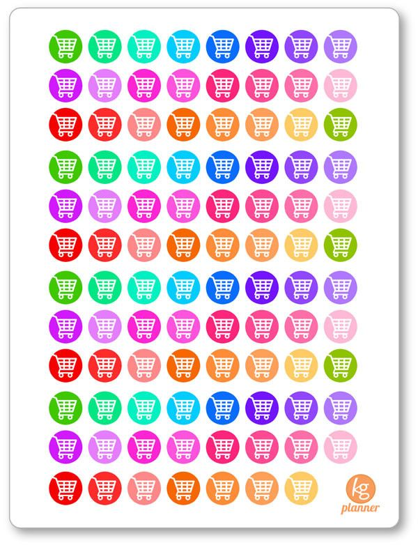 Shopping Cart Icon (88) Planner Stickers