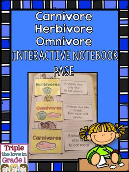 Use this activity to supplement your unit on animals by having students create pockets in their notebook. The pockets are labeled with the word Omnivore, Carnivore, and Herbivore. Students cut and glue the definition of each next to the pocket and cut out the 18 animals.
