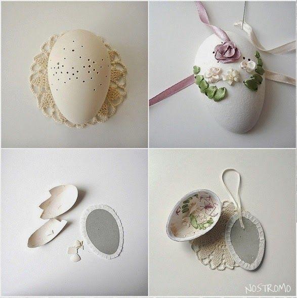 Bellart Atelier: Páscoa - Como bordar em casca de ovo.