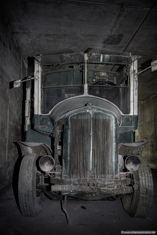 Abandoned Belgium: Vintage Buses and Trolleys Discovered inside a Gloomy Tunnel