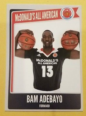 2015-16 Edrice Bam Adebayo McDonalds all American KENTUCKY NBA Draft Pick RC